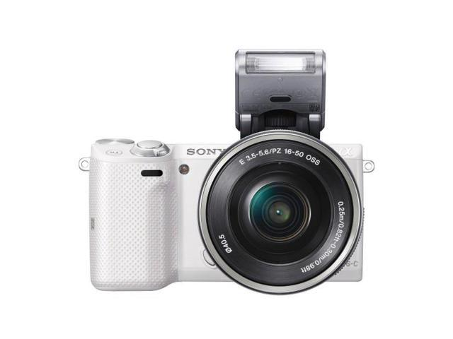 Sony NEX-5TL/W Compact Interchangeable Lens Digital Camera with 16-50mm Power Zoom Lens (White))