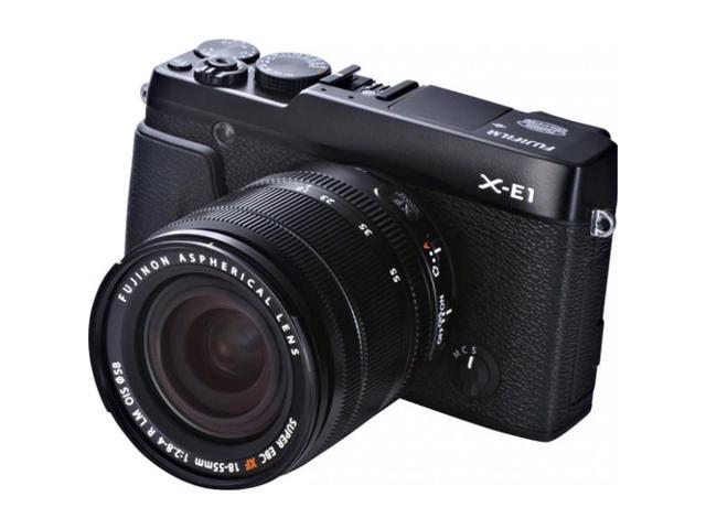 Fujifilm X-E1 16.3MP Compact System Digital Camera with 2.8-Inch LCD- Kit with 18-55mm Lens (Black)