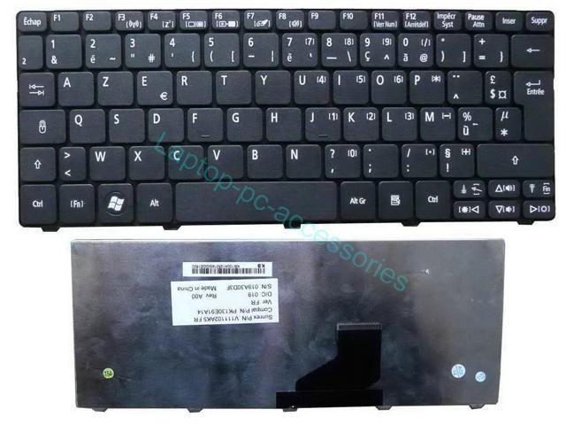 New FR/French Keyboard France Clavier For Acer Aspire One 521 D255 D260 533 532 532H D-257 NAV50 NAV51 PAV70 NAV70 ZH9 ZE6 ZE6a ZH9US E100 ...