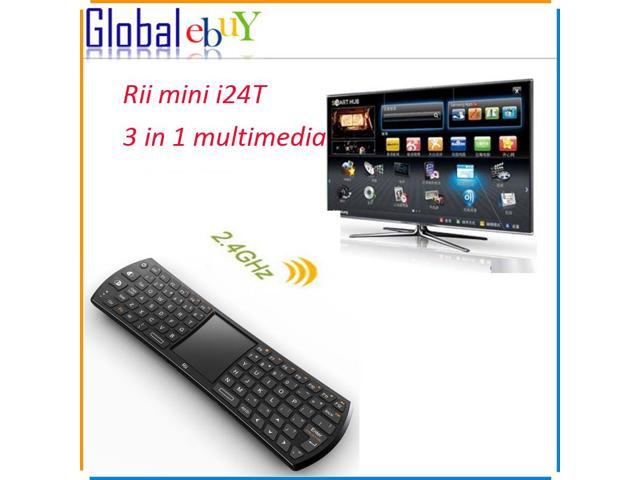 Original Rii mini i24T Remote Controller Wireless 2.4 GHz 83 keys Keyboard Black Keypad 3 in 1 multimedia Keyboard Mouse Combo