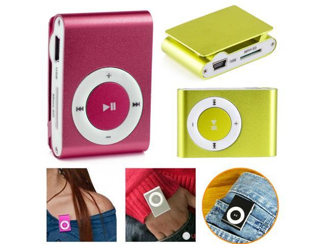 8GB Support Slim Mp3 Player 8 Colors Music Media Player SD TF