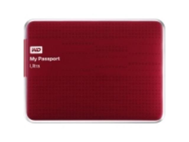 Wd My Passport Ultra Wdbzfp0010brd-nesn 1 Tb External Hard Drive - Usb 3.0 - Portable - Red - Retai