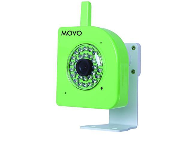 Movo NT4000 720p HD Wi-Fi Enabled IP Network Camera with Motion/Audio Detection & Day/Night Infrared (Green)