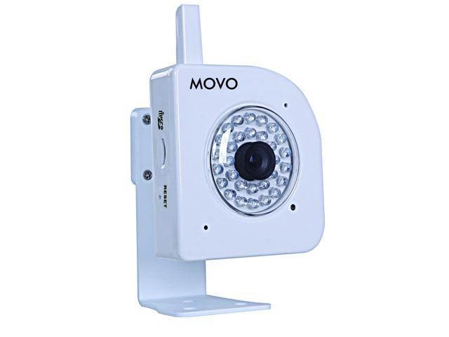 Movo NT4000 720p HD Wi-Fi Enabled IP Network Camera with Motion/Audio Detection & Day/Night Infrared (White)