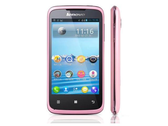 Original New Lenovo A376 Android 4.0 Dual SIM Core SC8825 1.0GHz WIFI Smart Cell Phones White Pink Russian