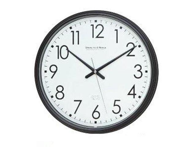 Spy-MAX Security Products Plastic Wall Clock Black (13