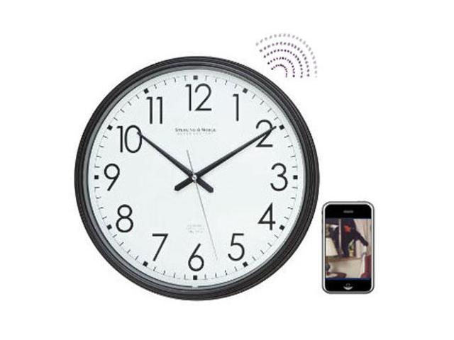 Spy-MAX Security Products Wall Clock MMS Messenger Surveillance Camera, Includes Free eBook