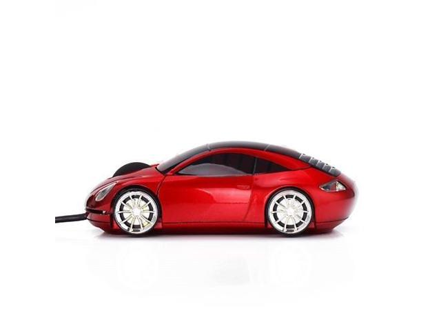 3D Optical Car Shape USB Wired Mouse for Computer PC Laptop Notebook - Red