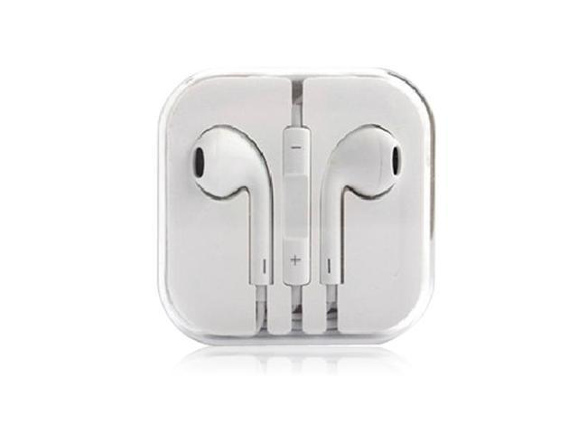 Earbuds Headset Earphone Headphone with Remote Mic for IPhone 5 5S 5C 4 4S IPod Touch Ipad 5 4 3 Ipad Mini White