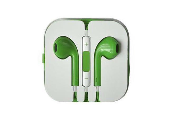 Earbuds Headset Earphone Headphone with Remote Mic for IPhone 5 5S 5C 4 4S IPod Touch Ipad 5 4 3 Ipad Mini Green