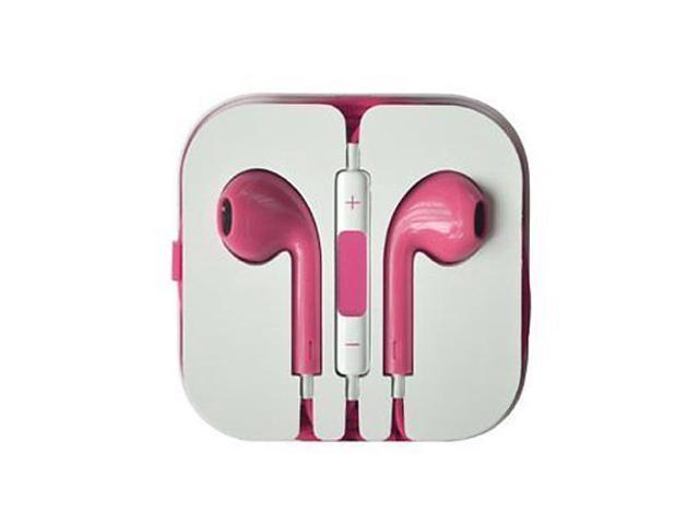 Earbuds Headset Earphone Headphone with Remote Mic for IPhone 5 5S 5C 4 4S IPod Touch Ipad 5 4 3 Ipad Mini Pink