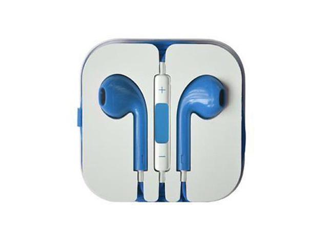 Earbuds Headset Earphone Headphone with Remote Mic for IPhone 5 5S 5C 4 4S IPod Touch Ipad 5 4 3 Ipad Mini Blue