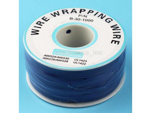 1 Reel Copper Wire 0.6mm inner 0.25mm 200m Tin-plated PVC Electronic Cable Blue