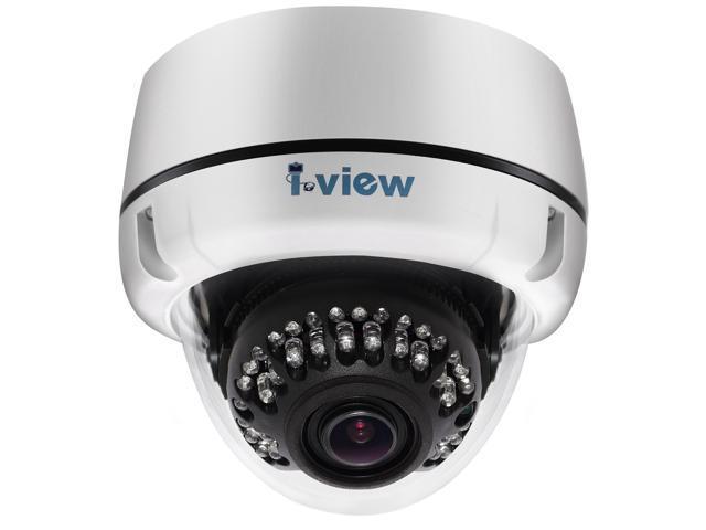 I-View Communication Inc. DM-5MIPN36-M0311, 5-Megapixels FULL HD, Motorized Lens 3.3-10.5mm, IR Vandal Proof Dome Network IP Camera PoE, 18months ...