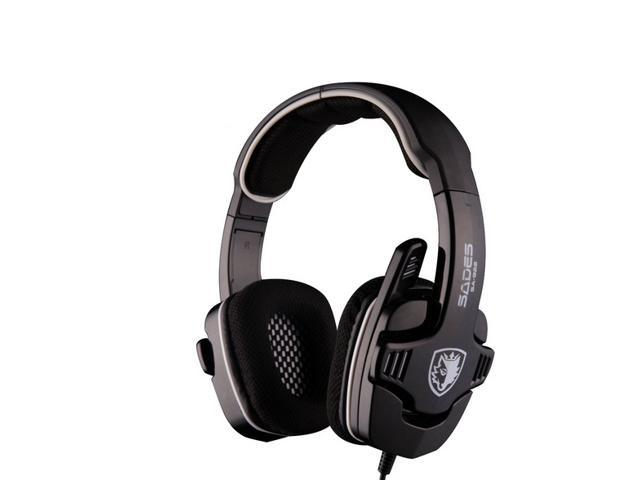 Sades SA-922 Headband Wired Computer Headphone 3 in 1 Professional Gaming Headset with Microphone for PC PS3 XBOX