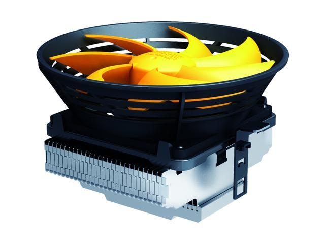 Lotous PCCooler Q120 Butterfly Shaped Style Silent Shock-absorbing CPU Cooler with Detachable PWM Fan for Intel AMD (Yellow)