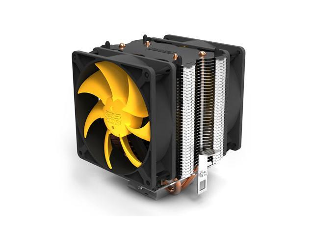 Lotous PCCooler S90D Butterfly Shaped Style Silent Shock-absorbing CPU Cooler with Detachable PWM Fan for Intel AMD (Silver)