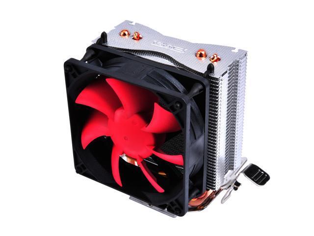 Lotous® PCCooler S80 Aluminium CPU Cooler for Intel AMD, Ø6mm*2 heatpipes, 100mm More Quiet Fan, Larger Air Flow