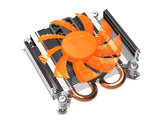 Lotous® PCCooler S89 Aluminium CPU Cooler for Intel, Ø6mm*2 heatpipes and HDT technology in bottom CPU Fan 100mm More Quiet Fan, Larger Air Flow