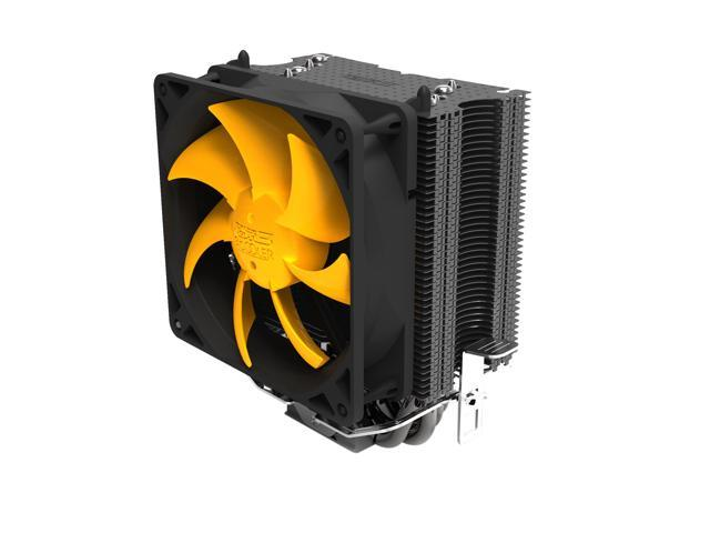 Lotous® PCCooler S90F Aluminium CPU Cooler for Intel and AMD, Ø6mm*4 heatpipes and HDT technology in bottom CPU Fan 100mm More Quiet Fan, Larger ...