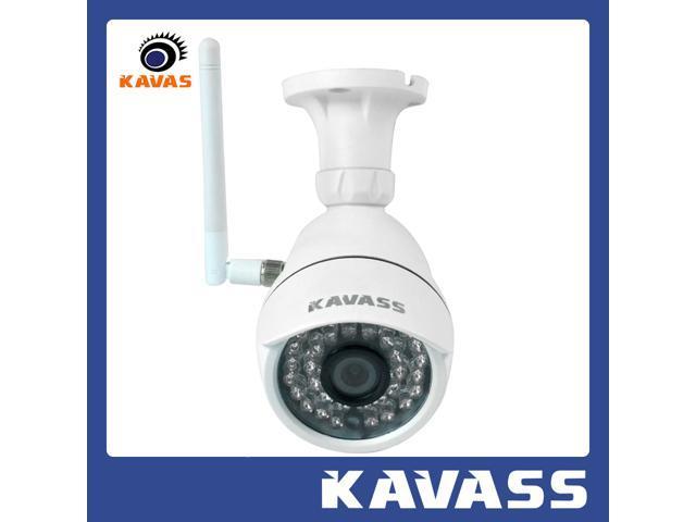 KAVASS Wireless 720P HD Lens P2P Wifi Surveillance IP Network Camera with IR Cut Night Vision Motion Detection