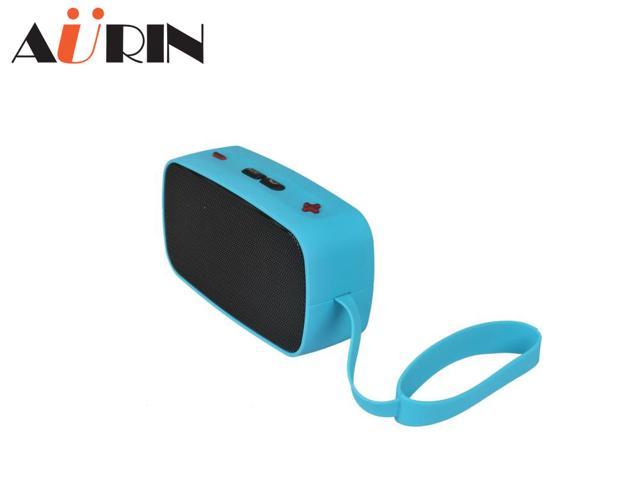 AURIN Portable Stereo Wireless Bluetooth speaker with Built in Speakerphone and Support Handsfree Calling-Blue