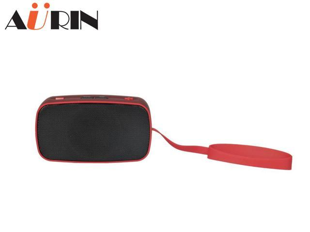 AURIN Outdoor Portable Wireless Bluetooth speaker with wristband-Red