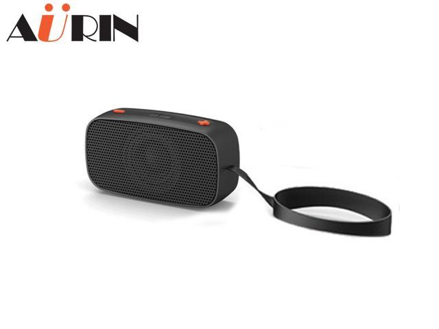 AURIN Outdoor Portable Wireless Bluetooth speaker with wristband-Black