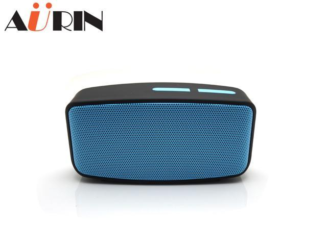 AURIN Outdoor Mini Portable Wireless Bluetooth speaker with FM-Radio,Micro SD/TF Card Slot,Audio AUX function, Built-in Microphone for Hands Free ...