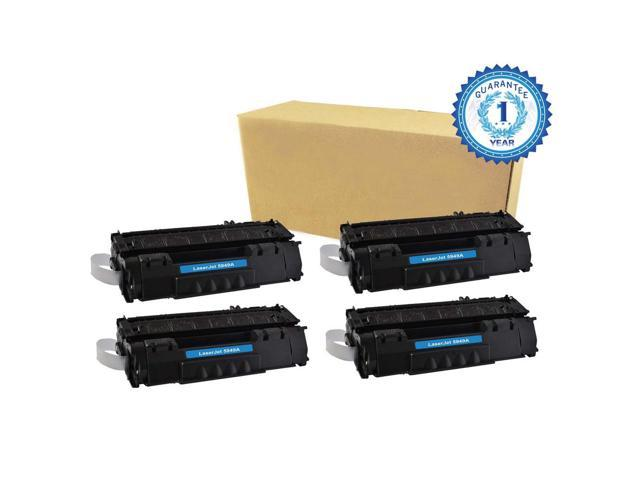 4PK HP 49X Q5949X Black Toner Cartridge Compatible with HP LaserJet 1320 1320N P2010 P2014 P2015 P2015d P2015dn P2015n P2015X M2727mfp M2727nf ...