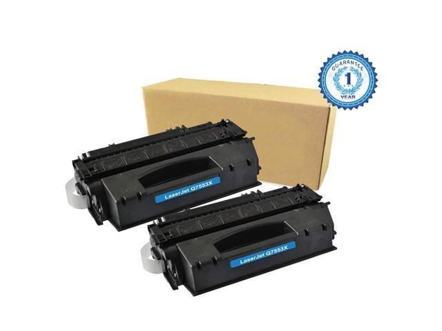 2PK HP 53X Q7553X Black Toner Cartridge Compatible for HP LaserJet 1320 1320N P2010 P2014 P2015 P2015d P2015dn P2015n P2015X M2727mfp M2727nf MFP ...