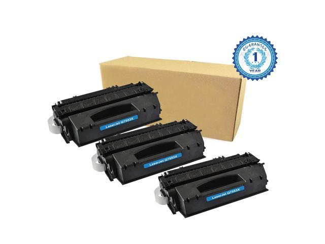 3PK HP 53X Q7553X Black Toner Cartridge Compatible for HP LaserJet 1320 1320N P2010 P2014 P2015 P2015d P2015dn P2015n P2015X M2727mfp M2727nf MFP ...