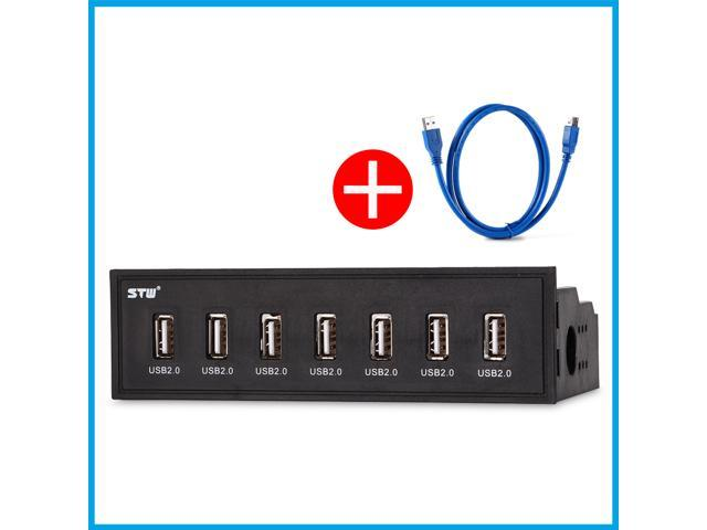 STW 5.25 inch Desktop Optical Drive Internal 7 Ports USB 2.0 HUB front panel