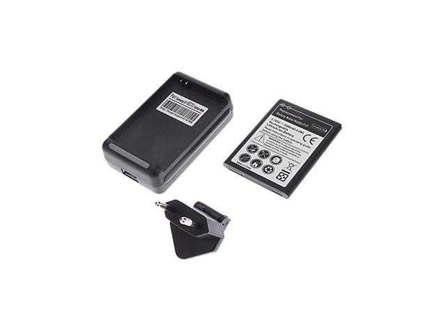 Replacement 3.7V 2600mAh Battery,Charging Cradle and EU Plug Adapter for Samsung Galaxy Note I9220