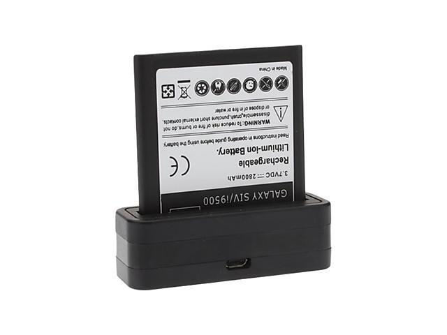 Cradle Dock Phone Charger and Battery for Samsung Galaxy S4 i9500 (2800mAh)