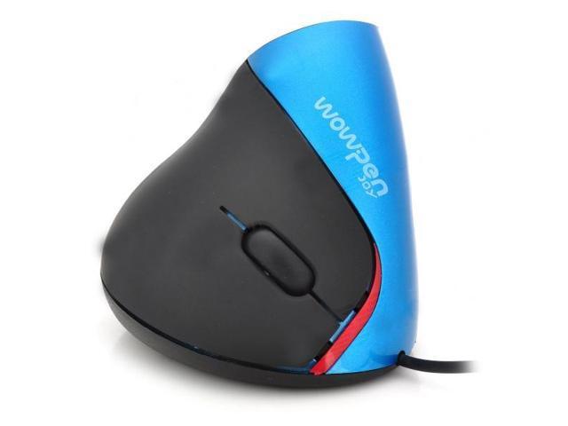 Wired USB Superior Ergonomic Design 800dpi Vertical Optical Mouse for Alleviate Wrist Fatigue-Blue