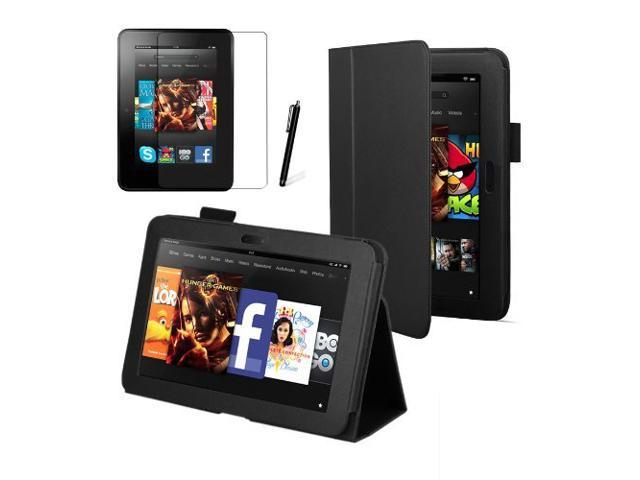 KFly- Black Executive Multi Function Standby Case for the Kindle Fire HD 7