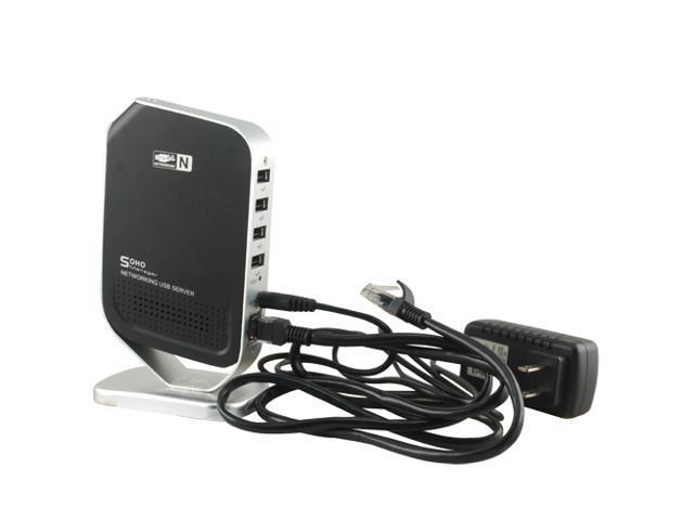 KFLY - High Quality Network USB Print Server HDD Webcam Scanner Share Server M4 Printer Share 100Mbps with 4 Port