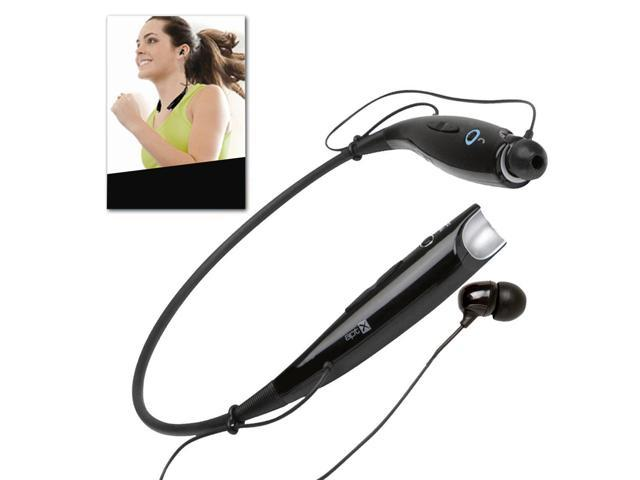 KFLY - Black Universal Sport Wireless Bluetooth Stereo Headphone Hands Free Neckband for iPhone/Samsung/iPod/PC