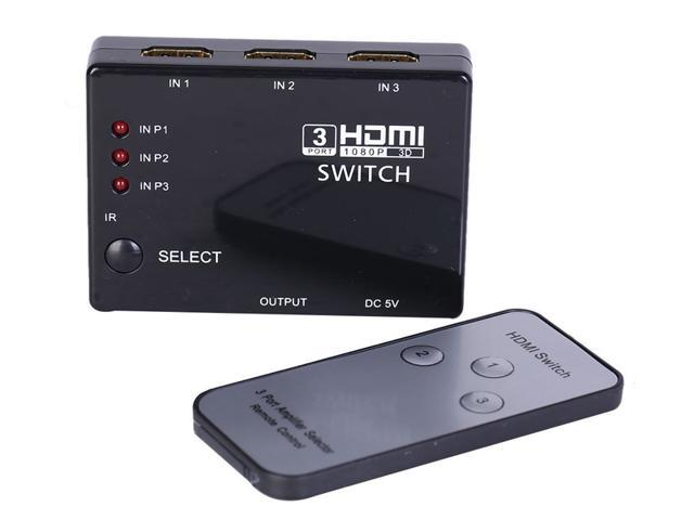 Generic 3 In 1 Out HDMI Switch 3D 1x3 1.4 3 Port Hdmi Splitter 1080P Built-in Infrared Switcher With IR Remote for Audio HDTV PS3 ...