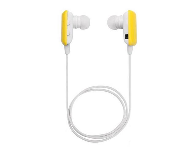 KFLY-Mini Yellow Wireless Stereo Bluetooth BT Headset Headphone Earphone Earpiece Earbud with Noise Cancellation,A2DP,Great Compatible with ...