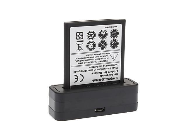 Cradle Dock Phone Charger and Battery for Samsung Galaxy S3 i9300 (2800mAh)