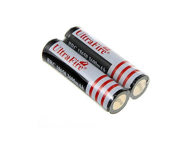 Ultra Fire All-in-One Batteries Charger with 2 x 18650 Rechargeable 3600mAh Li-ion Batteries