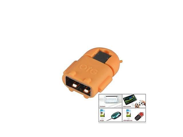 Micro USB Male to USB Female Adapter for Samsung i9500 / i9300 / i9100 / HTC / Sony White