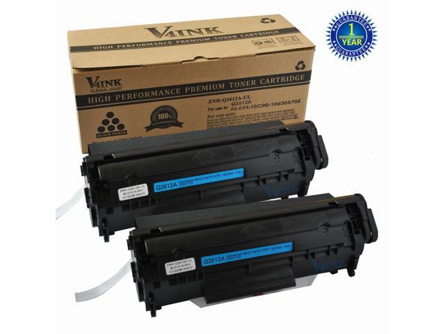 2PK Q2612A 12A for HP LaserJet 1010 1012 1015 1018 1020 1022 3015 Toner Cartridge