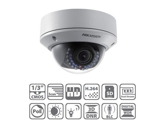 Hikvision DS-2CD2712F-IS 3D DNR & DWDR & BLC True Day/night Vandal-proof Housing 1.3MP IP66 Network IR Dome Camera