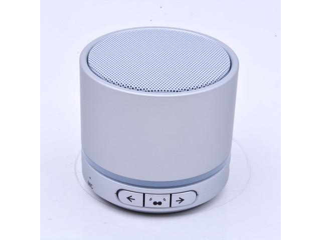 Wireless portable Bluetooth Speaker for all Bluetooth enabled S13T Color Silver And Neckband Headphone Wireless Bluetooth street style for apple ...