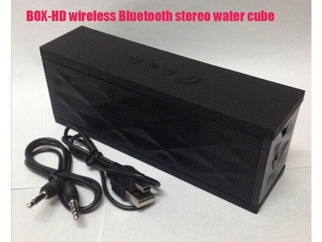 BOX-HD wireless Bluetooth audio plug water cube mobile phone hands-free subwoofer vehicle portable MP3 card speaker