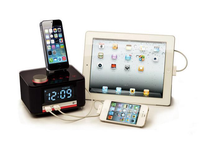 Panic buying factory direct speaker special charging base Bluetooth stereo clock radio for iphone 5s/6 for iPad