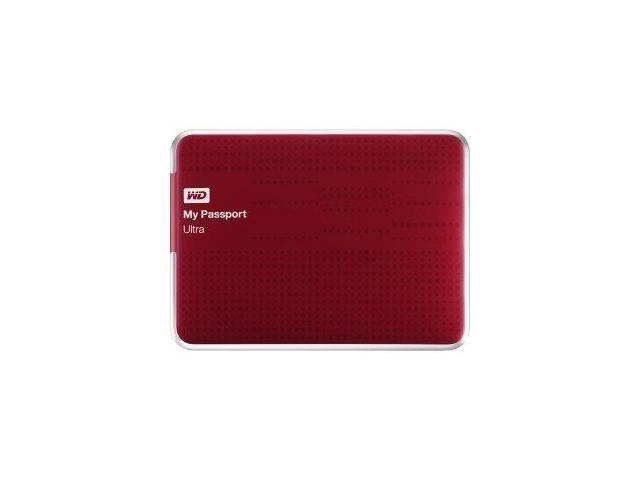 WD My Passport Ultra WDBPGC5000ARD-NESN 500 GB External Hard Drive - USB 3.0 - Portable - Red